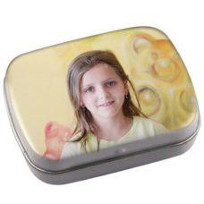 Boîte-à-charnière avec bonbons VIVIL Friendship à la menthe