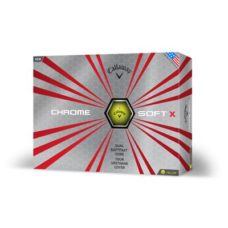 Balle de Golf Callaway Chrome SoftX Jaune