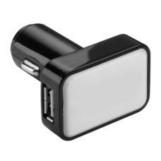 CHARGEUR_VOITURE_USB_REFLECTS_KOSTROMA_BLACK_PERSONNALISABLE | PRODUITS HIGH-TECH  | CLÉS USB PERSONNALISÉES