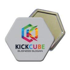 badge hexagonal