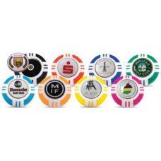 Support pour marqueur de balle jeton de poker Vegas 40mm avec logo Doming sur 1 côté du marqueur