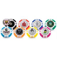 Support pour marqueur de balle jeton de poker Vegas 40mm avec logo émail sur 1 côté du marqueur