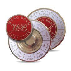 Support pour marqueur de balle Metal Yardage 44mm avec logo émail sur 2 côté
