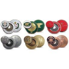 Support pour marqueur de balle Métal 40mm avec logo émail sur 2 côté