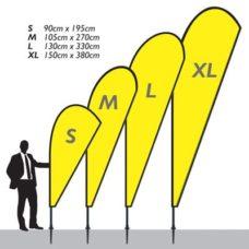 Bannière Breeze L 130x330cm