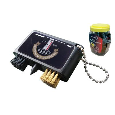 Brosse pour groove Noir dans emballage pour comptoir avec logo Doming