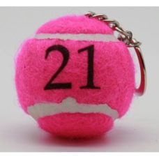 Porte-clefs balle de tennis Rose Neutre
