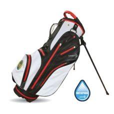 Sac Trépieds Tornado Waterproof imperméable avec division pour 5 club disponible en noir/blanc/rouge et noir/argent