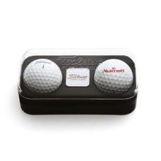 Boite Titleist 2 balles de golf et marqueur