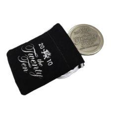Mini poche en daim pour marqueur de balle de 44mm avec logo sur 1 côté