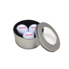 Boite métalique Girona avec 3 balles de golf Titleist DT TruSoft