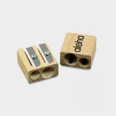 Double taille-crayons en bois certifié durable
