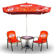 Parasol carré 2x2m Café