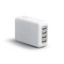 ADAPTATEUR DE VOYAGE AVEC 4 PORTS USB EASY TRAVEL PERSONNALISE BLANC   PRODUITS HIGH-TECH    GADGETS ELECTRONIQUES