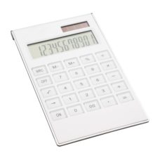 CALCULATRICE_REFLECTS_SOBRAL_WHITE_PERSONNALISABLE | FOURNITURES DE BUREAU | CALCULATRICES PUBLICITAIRES