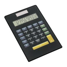 CALCULATRICE_REFLECTS_TURKU_BLACK_PERSONNALISE | FOURNITURES DE BUREAU | CALCULATRICES PUBLICITAIRES